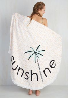 Playa It Cool Beach Towel. After splashing the afternoon away, youll be happy to make a home on this circular beach towel by Lolli Swim! #multi #modcloth