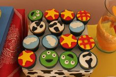 Toy Story birthday party cupcakes! See more party planning ideas at CatchMyParty.com!