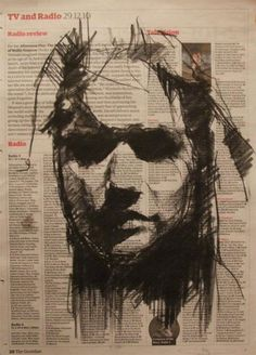 While we're on the topic of self-taught artists, I'd like to introduce to you guys an English contemporary visual artist named Guy Denning. He's now based in France, but he had his roots on the Bristol urban art scene. Life Drawing, Figure Drawing, Drawing Sketches, Painting & Drawing, Art Drawings, Sketching, Abstract Portrait, Portrait Art, Portraits