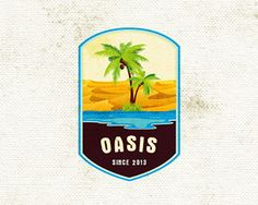 nice logo that uses green and blue colors to make it really pop the desert in the background is a nice added touch.