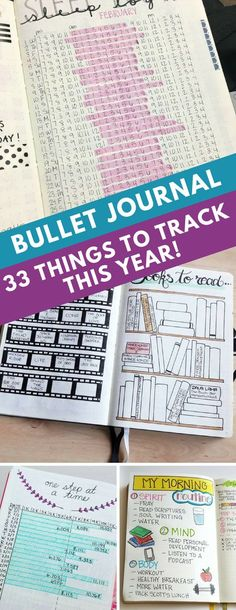 Bullet Journal Tracking Spreads - Your bullet journal can be used for so much more than just keeping track of your to do list. Get inspired by these bullet journal spreads you need to try in 2018! #bulletjournal #bujo
