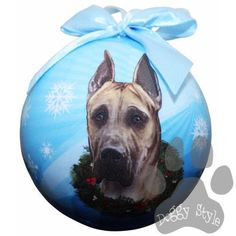 Great Dane Fawn Shatterproof Dog Breed Christmas Ornament http://doggystylegifts.com/products/great-dane-fawn-shatterproof-dog-breed-christmas-ornament