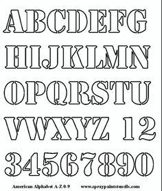 Alphabet letter templates lettering fonts pinterest alphabet alphabet stencil free upper case and numbers spiritdancerdesigns Image collections