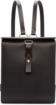 Fleet Ilya Black Leather Medium Harness Backpack