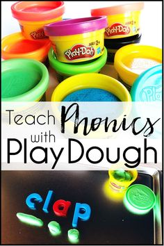 Make learning phonics rules fun with these engaging lesson and activities ideas. Classroom teachers help preschool, kindergarten, 1st grade, or 2nd grade students practice letter sounds, vowels, cvc words, blends, digraphs, and other reading strategies with these play dough lessons and games. Great for teaching first and second graders, els, or beginner readers in guided reading, small groups, interventions, centers. Beginning language arts instruction for kids, homeschool, or tutoring