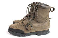 Men's Polo Ralph Lauren Andres Gray Leather Nubuck Boots Size 8 D Winter boots #PoloRalphLauren #SnowWinter