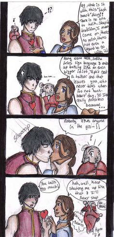 zutara | Zutara hush heart by MoonWarrior3 OMG iroh in the background LOL