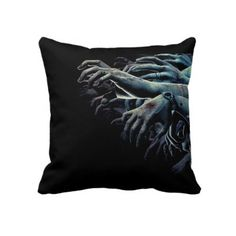 Zombies pillow. Made in the USA. Printed both sides. $59.95 #madeintheusa