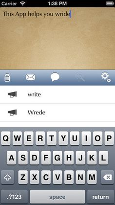 App wordprediction engine ---> support dyslexic... (iPhone Screenshot 1) work on iPads as well.