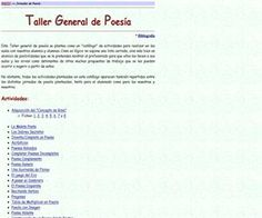 Taller general de Poesía, un abanico de recursos para los docentes - Didactalia: material educativo