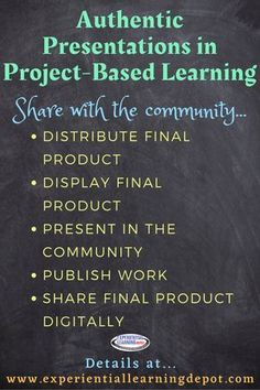 Authentic presentations are an important piece of project-based learning. They make learning relevant, meaningful, and deepen the learning experience. But sometimes this part of PBL can be a challenge. We think it's complicated, but it doesn't have to be. Check out some authentic presentation ideas right here. #projectbasedlearning Teaching Strategies, Learning Activities, School Projects, School Ideas, Student Interview, Education Director, The Learning Experience, Experiential Learning, 21st Century Skills