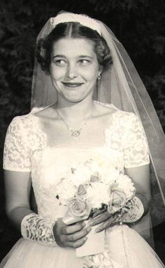 my aunt carol on her wedding day. absolutely gorgeous. july 16, 1955.