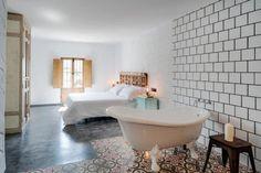 Love the flooring Cadiz, Clawfoot Bathtub, Interior Decorating, Flooring, Bathroom, Travel, Furniture, San Francisco, Bedrooms