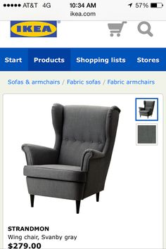IKEA chair we love. Has Ottoman. All in about $330