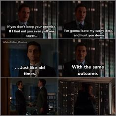 Neal and Peter (cushy desk: LOL) #White Collar Quotes.