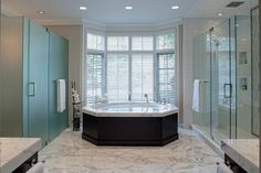 Luxurious Burr Ridge IL Master Bath - contemporary - bathroom - chicago - Drury Design