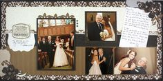 Treasure Divine #Wedding Scrapbook Layout Project Idea from Creative Memories    www.creativememor...