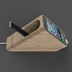 Ecolith iPhone and iPad wood dock Absolut Vodka, Projects To Try, Ipad, Concept, Iphone