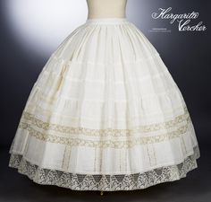 Margarita Vercher enagua Davinia Hoop Skirt, Fashion History, Margarita, Victoria Secret, Plus Size, Clothes For Women, Sewing, Crochet, Vintage
