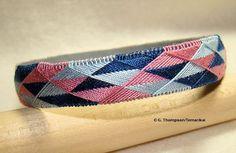 Yubinuki Bracelet Light & Dark Blue Pink Silk by TemariKai
