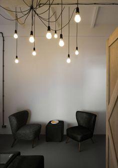 hanging bulbs by Morpho Studio