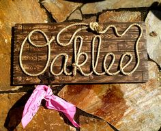 Country/Western Name Signs by ROPE & STYLE combines meticulous craftsmanship with detailed artistry and your custom personalization to give you a