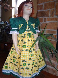 Little Girl's John Deere dress