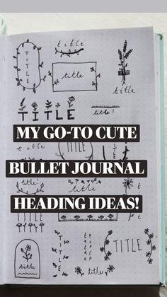 Junk Journal, Journal Ideas, Bullet Journal Headings, Cute Scrapbooks, Summer Fun List, Travel Scrapbook, Crafts, Bullet Journal Ideas, Manualidades