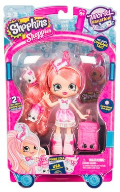 f18e1b99ddc Shopkins Shoppies World Vacation Visits America Doll - Pinkie Cola