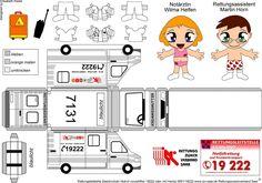 papertoy ambulance