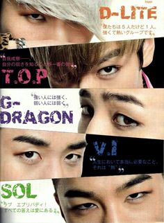 #BIGBANG ♡ G-Dragon , Daesung ,TOP , Seungri , and Taeyang
