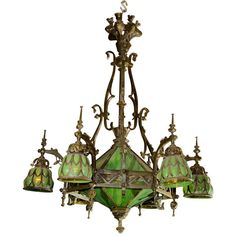 Woodchuck Antiques - Gothic Chandelier - 1stdibs ($8,500) ❤ liked on Polyvore featuring home, lighting, ceiling lights, lamps, furniture, decor, chandelier, chandelier lamp, chandelier hanging lamp and chandelier lighting