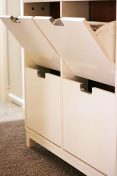 IKEA shoe cabinet holds 12x12 paper!