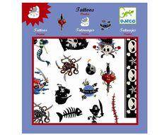Djeco Tattoos Piraten - tolles Mitbringsel für jede Gelegenheit - Bonuspunkte sammeln, Kauf auf Rechnung, DHL Blitzlieferung!