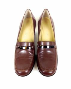 Casual Corner Shoes Leather Brown Italy Slip on Heels Classic Loafers Womens 9 M | eBay