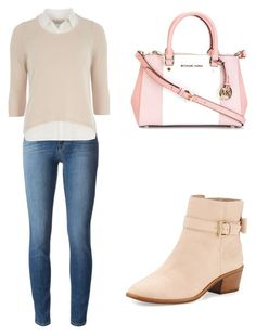 """""""Pink autumn"""" by tania-alves ❤ liked on Polyvore featuring J Brand, Dorothy Perkins, Kate Spade and MICHAEL Michael Kors"""
