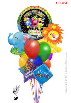 Jungle Singing Balloon Bouquet 11 Balloons