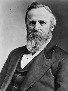 Rutherford Birchard Hayes (1822-1893), Ohio, 19th President of the United States.
