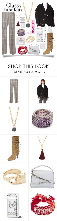 """Fabulous"" by justinallison ❤ liked on Polyvore featuring Irene, Courrèges, Ela Rae, Joanna Laura Constantine, Veronica Beard, Gorjana, Soave Oro, Tod's, Chanel and DANNIJO"