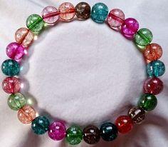 Multicolor Turmalin Heilstein Perlen Armband