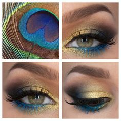 .@lindahallbergs | Peacock-inspired. Visit my blog for more lindahallberg.se #eotd #peacock #li...