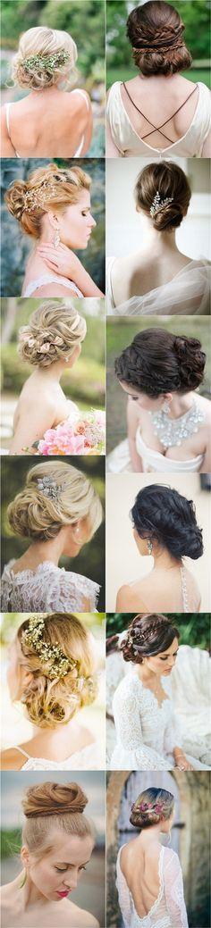 More bridal hairstyles | Más peinados de novia recogidos y dos paso a paso fabulosos.