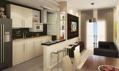 cozinha americana apartamento pequeno - Pesquisa Google