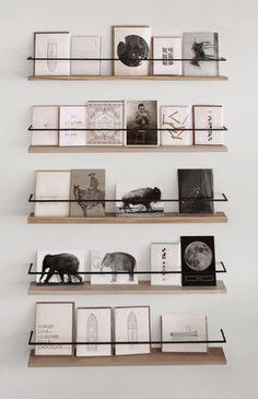 Gallery display shelving retail interiors