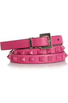 Valentino | Pop Rockstud leather belt | NET-A-PORTER.COM