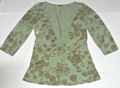 Language Los Angeles Anthropologie Top Shirt Tunic Knit Size L Ladies Womens