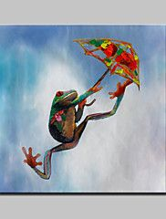 Lager Hand Painted Modern Abstract Parachute Frogs Animal Oil Painting On Canvas Wall Art Picture Whit Frame  – AUD $ 118.05
