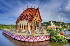 Ubosot of Wat Plai Laem, located in the north of Koh Samui, near to the Big Buddha