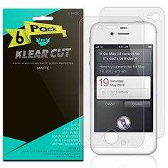 Apple iPhone 4S Front  Back Protector 6Pack Klear Cut High Definition Matte Front  Back Protector for Apple iPhone 4S ATT PET Film AntiGlare and AntiBubble Shield -- Be sure to check out this awesome product.