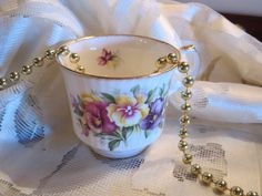 Queen's Fine Bone China - Rosina China Co. Ltd - Tea Cup - England by AntiquesandCoinsJL on Etsy
